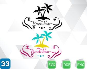 Beach bum svg,dxf,png /Beach bum clipart
