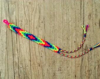 Friendship Bracelet. Vibrant Neons.
