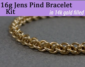 16g Jens Pind Bracelet Chainmaille Kit in Gold Fill