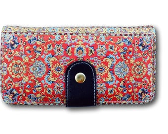 Women purse, womens purse, designer purse, women wallet, floral wallet, red wallet, red boho wallet, ethnic boho wallet, stylish purse,