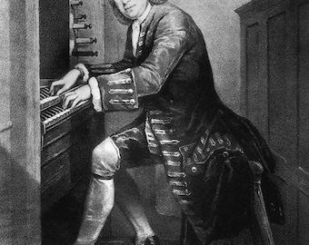Composer Johann Sebastian Bach. Print/Poster (001519)