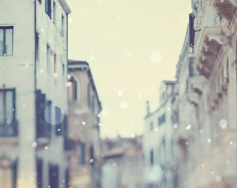 Venice Photography Print, Italy Wall Art, Venice Art Print, Winter Snow, Fine Art Photography, Wall Decor Large Print - Sotto Voce