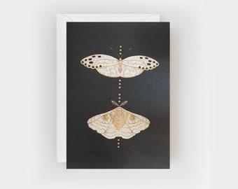 Gold Moth Duo Card
