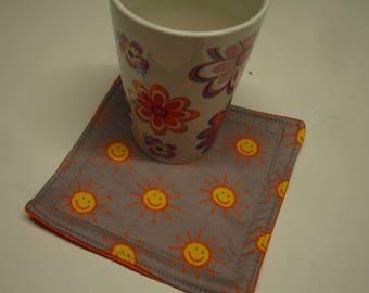 Cup Carpet Mug Rug Happy Suns