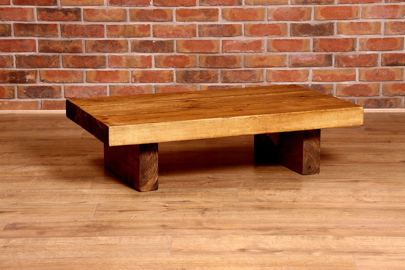 Upcycled Extra Thick Coffee Table, Rustic Chunky,Handmade,Solid Wood,Repurposed