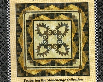 ROCKY MOUNTAIN Forget Me Knot QUILT & Tab Top Curtain Panels Pattern