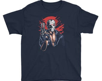YOUTH TEE Hockey Mask Slasher Movies Gift For Boys Trendy Boy Gifts Youth Boy Shirt Terminator Shirt Terminator Tee Short Sleeve T-Shirt