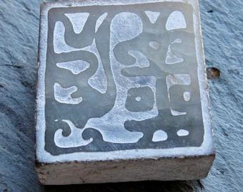 Carved Acid Etched Jade Block