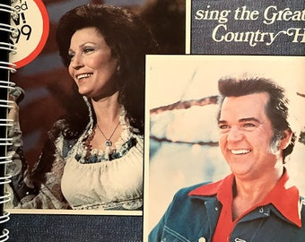 for the Loretta Lynn and Conway Twitty Class Country FAN  vintage /  Album Cover Notebook /rare Vinyl!