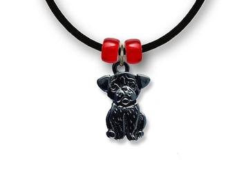 Enamel Black Pug Necklace