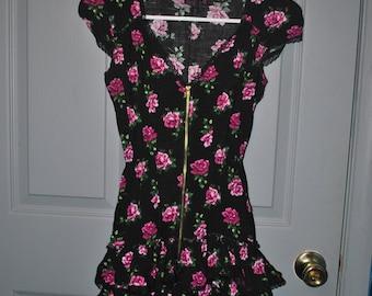 Floral Mini Ruffle Tunic/Dress