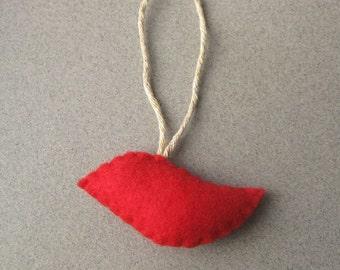 Kleiner roter Vogel fühlte Christmas Ornament umweltfreundlich recycelt