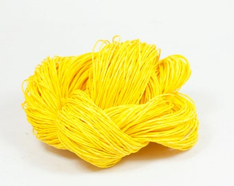 Paper Yarn - Paper Twine: Yellow - Knit, Crochet, Textile Arts, DIY Supply, Gift Wrap, Weave - Washable and Eco-Friendly