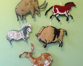 Quilted Ice Age Animals