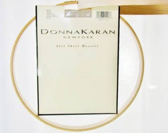 90s Donna Karan Hosiery Beige Just Sheer Style 224 Small