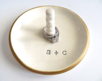 Ring Holder, Ring dish, Engagement ring holder, Wedding ring holder, Engagement gift, Bridal Shower Gift, Ring Cone, Promise Pottery