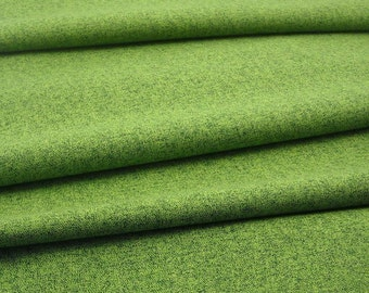 Cotton Fabric: Quilter's Tweed  in Grass - 1 YD