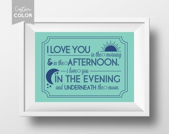 I Love You in the Morning | DIGITAL | Skidamarink Art | Modern | 8x10 | 11x14 | Customized Digital Download