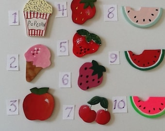 Fruit and Food Mini-Wooden Cut-Outs