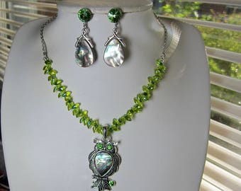 Optional Abalone Earrings and/or Necklace