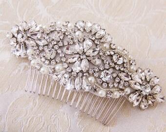 Wedding Hair comb, Bridal Hair comb, Bridal Hair Jewelry, Crystal Hair comb, Rhinestone Haircomb, Bridal Head Piece, Wedding Hairpiece