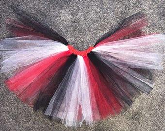 Girls Queen of Hearts Alice in Wonderland Tutu Skirt