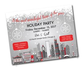 Christmas Party Invitation, Christmas Party Invites,Holiday Party Invites,Christmas Party Printable Invite