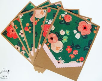 Note cards   Floral Note Cards   Vintage Note Cards   Note Cards handmade   Note Cards with envelope   Flat Note Cards   Blank Cards   Zion