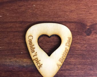 Laser Engraved Wood Guitar Pick