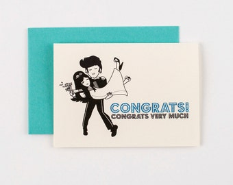 Elvis Congrats Wedding Greeting Card