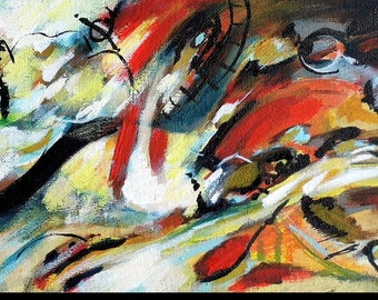 """Intimate abstract painting """"Night before"""""""