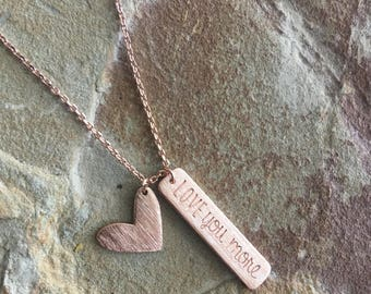 I love you more necklace