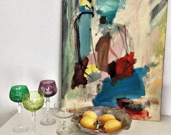 REDWINE again, acrylic on canvas, abstract acrylic painting, original