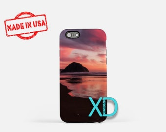 Pink Sunset iPhone Case,  Beach iPhone Case, Water iPhone 8 Case, Nature, iPhone 6s Case, iPhone 7 Case, Phone Case, iPhone X Case, SE Case