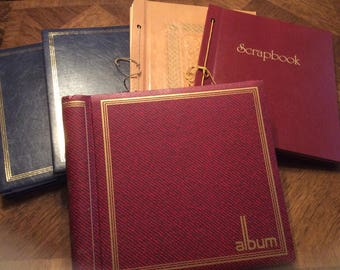 4 Large Scrap Books And 1 Large Photo Album