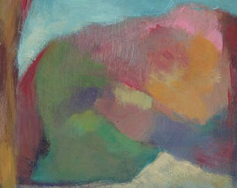 Original Abstract Acrylic Painting on Cradled Board | Vista