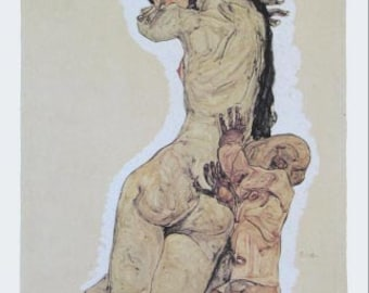"""Schiele Egon, 5, Lithograph """"Mother and Child"""""""
