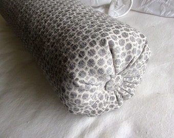platinum gray chenille decorative Bolster Pillow 6x14  6x16  6x18  6x20  6x22