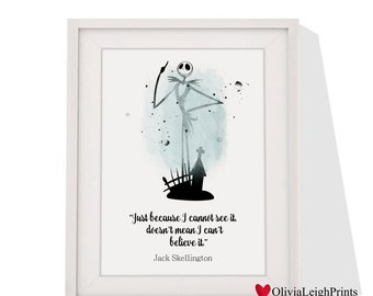 The Nightmare Before Christmas art print Instant Download