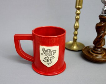 House Lannister Ceramic Mug in Crimson Red