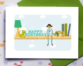 """My Toy Shelf """"Martha"""" - birthday card"""