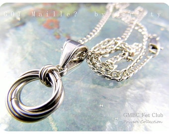 Discreet Day Collar Pendant - Stainless Steel Eternity Knot (Chain Not Included - Pendant Only)