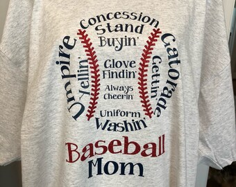 Baseball Shirt/Baseball T-shirt/ Baseball Mom Shirt/ Concession Stand Buyin Umpire Yellin Gatorade Gettin/Baseball Mom T-shirt