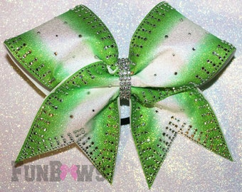 Beautiful Ombre , Rhinestone and Glitter Allstar Cheer bow by FunBows ! Customize This !