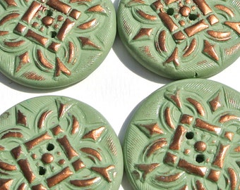 Large Round Buttons Handmade Polymer Clay