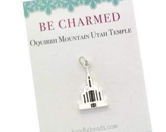 Oquirrh Mountain Temple, LDS Temples, Oquirrh Mountain Utah Temple charms, LDS Wedding, temple charm bracelet temple Necklace temple keyring