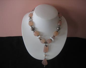 Vintage Quartz and Pearl Necklace