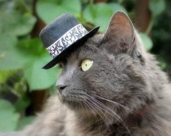 Wedding Black and White Damask Hat