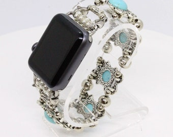 Turquoise and Tibetan Apple Watch band - 38MM - 42MM - Apple Watch Bands - Apple Watch Band Women