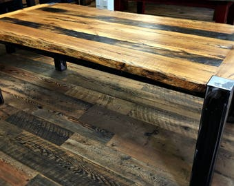 Barnwood Dining Table-Reclaimed Wood Table, Barnwood Tables, Barnwood Table, Barn Wood, Reclaimed Wood, Salvaged Wood Table, Joanna Gaines